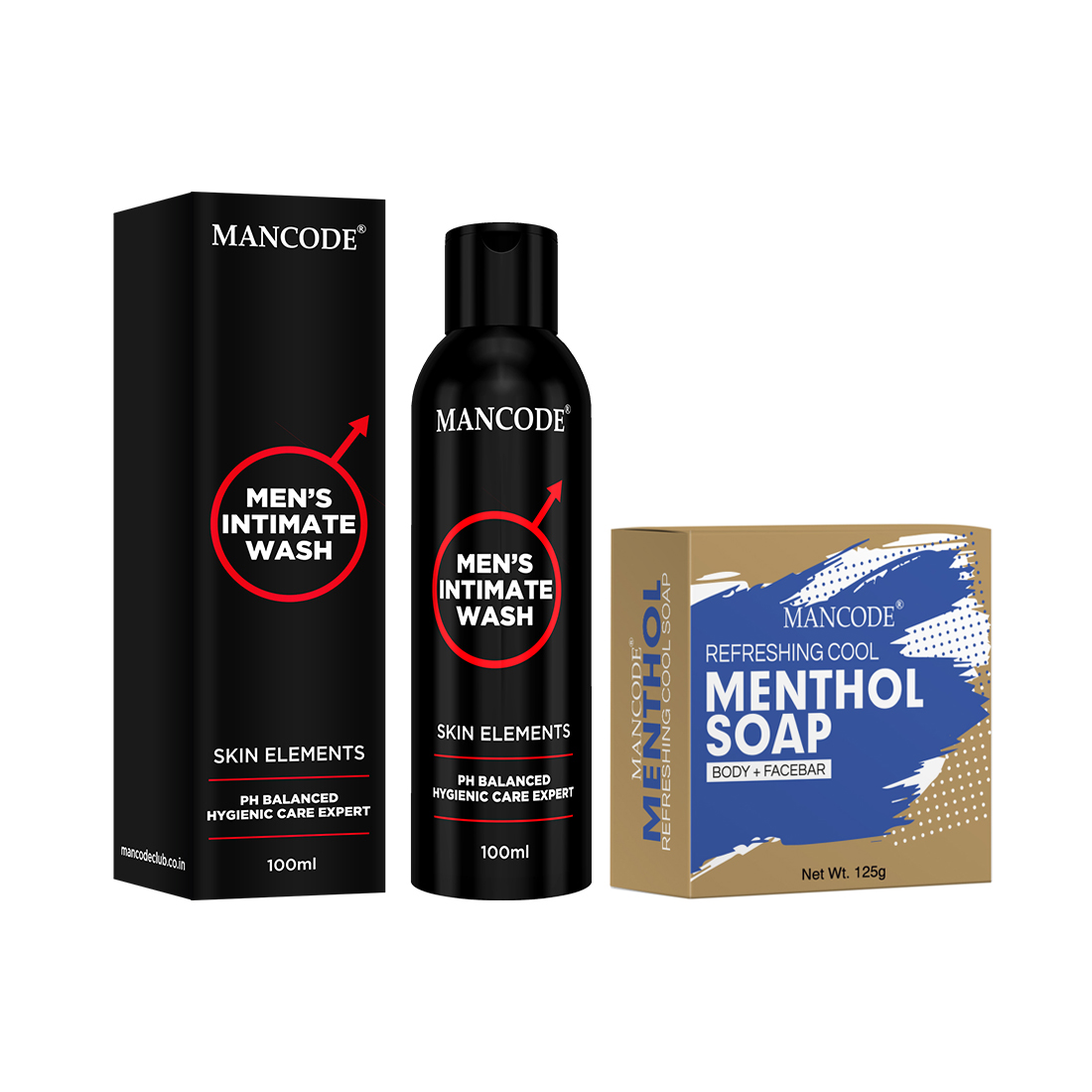 Buy Bath Essentials Intimate Wash & Menthol Soap For Men (Pack of 2)